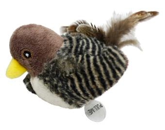 Kvittrande plyschfågel m kattmynta