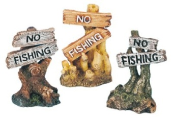 No Fishing mix skylt 8 cm
