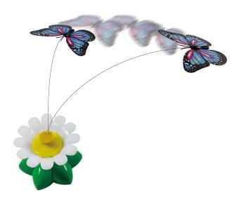 Snurrande fjäril kattleksak