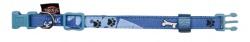 Modern Art halsband Woof, S-M: 30-45 cm/15 mm, blå