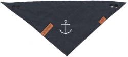 BE NORDIC scarf, mörkblå med ankarmotiv