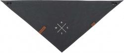 BE NORDIC scarf, mörkgrå med rosmotiv