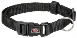 Premium halsband, XXS-XS: 15-25 cm/10 mm, svart
