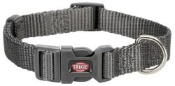 Premium halsband, M-L: 35-55 cm/20 mm, grafit