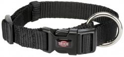 Premium halsband, S/M: 30-45 cm/15 mm, svart