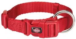 Premium halsband, S/M: 30-45 cm/15 mm, röd