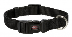 Premium halsband, M/L: 35-55 cm/20 mm, svart