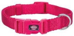 Premium halsband, S: 25-40 cm/15 mm,fuchsia