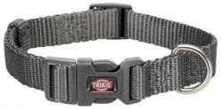 Premium halsband, S: 25-40 cm/15 mm, Grafit