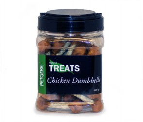 Treats Chicken Dumbells 400 g brk
