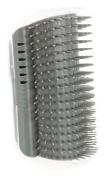 Massageborste för hörnmontering, katt, 8 × 13 cm, grå