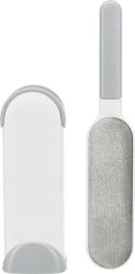 Kläd och textilborste med rensstation, 33 cm, vit/grå