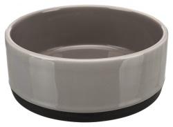 Keramikskål med gummibotten, 0.75 l/ø 16 cm, grå