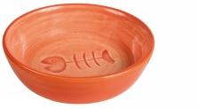 Matskål keramik fiskben 0,2 l  bl.färger