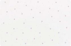 Matskålsunderlägg tasstryck, 44 × 28 cm, vit