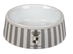 Prince Dog Keramikskål 0,45L 16cm Grå/Vit