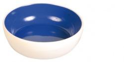 Keramikskål katt Vit/Blå 0,2 L 13 cm