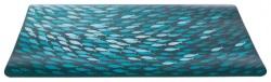 Matskålsunderlägg fiskstim, 44 × 28 cm, petrol/blå