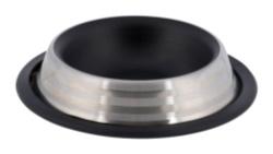 Matskål rostfri, katt, 0,2 l/ø 16 cm, mattsvart/silver