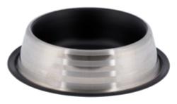 Matskål rostfri, 0.9 l/ø 23 cm, mattsvart/silver