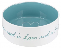 Pet's Home keramikskål, 1.4 l/ø 20 cm, creme/ljusblå