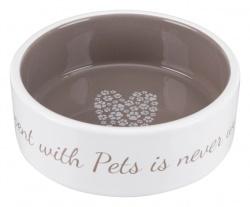Pet's Home keramikskål, 0.3 l/ø 12 cm, cream/taupe