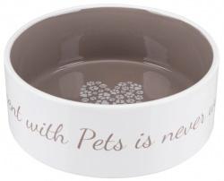 Pet's Home keramikskål, 1.4 l/ø 20 cm, cream /taupe