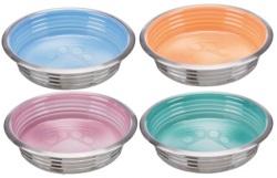 Rostfri skål, färgglaserad, 0.2 l/ø 12 cm