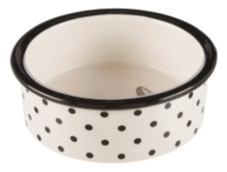 Keramikskål, Zentangle, 0.3 l/ø 12 cm, vit/svart