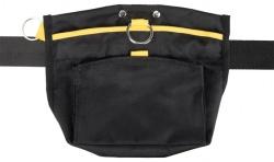 Sporting godisväska, 23 cm × 19 cm, svart/gul