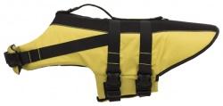 Flytväst för hund gul/svart