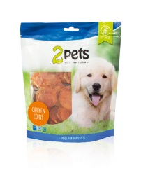2pets Dogsnack Chicken Coins, 400 g