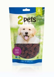 2pets Dogsnack Duck Cubes, 100 g