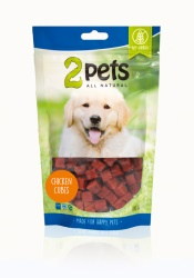 2pets Dogsnack Chicken Cubes, 100 g