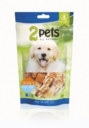 2pets Dogsnack Chicken/Fish Cubes, 100 g