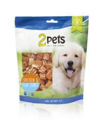 2pets Dogsnack Chicken/Fish Cubes, 400 g