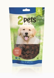 2pets Dogsnack Rabbit Cubes, 100 g