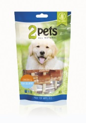 2pets Dogsnack Chicken/Fish Lollipops 100 g