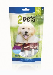 2pets Dogsnack Duck/Fish Lollipops 100 g