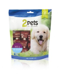 2pets Dogsnack Duck/Fish Lollipops 250 g