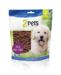 2pets Dogsnack Duck MiniCubes, 400 g