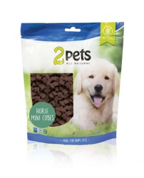 2pets Dogsnack Horse MiniCubes, 400 g