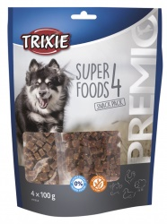 PREMIO 4 Superfoods, kyckling, anka, beef, lamm,4 × 100 g