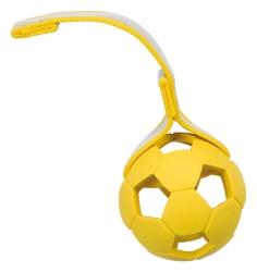 Sporting boll, på band, naturgummi, ø 7 cm/22 cm blå/gul