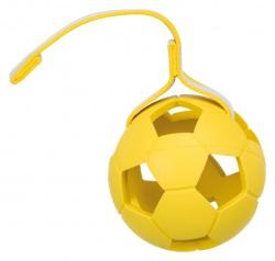 Sporting boll, på band, naturgummi, ø 11 cm/30 cm blå/gul