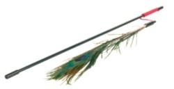 Kattleksak Vippa med påfågelfjäder 47 cm