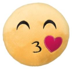 EMOJ-Smiley Kyss, plysch, ø 14 cm