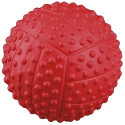 Sportboll naturgummi, m ljud, ø 7 cm
