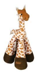 Leksak Plysch-Giraff långbent m skallra 33 cm