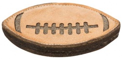 Rugby, läder/ull, 20 cm